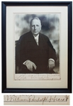 William Randolph Hearst Large Signed Photo Display Measuring 11 x 15 -- Hearst Inscribes the Photo to His Daughter-in-Law Lorna, from her Pop